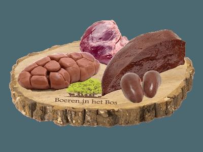 Pakket van gemengd orgaanvlees van natuurrund, bosvarken en heideschaap