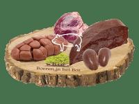 Pakket van orgaanvlees van het bosvarken met boek Hart Lever Niertjes van Stpehane Reynaud