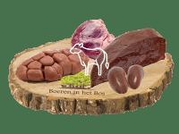 Pakket van orgaanvlees van het natuurrund met boek Hart Lever Niertjes van Stephane Reynaud