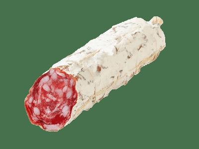 salami van tamworth bosvarken - droge worst gefermenteerd met zout, peper, knoflook